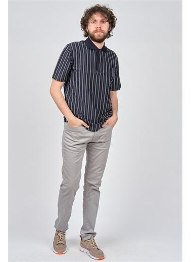 Arslanlı Arslanlı Erkek Çizgili Polo Yaka T-Shirt  Lacivert
